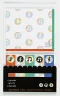 C/W 付箋&メモ ☆※お取り寄せ商品 【音楽雑貨 音符・ピアノモチーフ】ト音記号 ピアノ雑貨