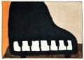 フロアマット ☆※お取り寄せ商品 【音楽雑貨 音符・ピアノモチーフ】ト音記号 ピアノ雑貨