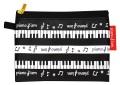 コイン&ティッシュケース ピアニズム ☆※お取り寄せ商品 【音楽雑貨 音符・ピアノモチーフ】ト音記号 ピアノ雑貨
