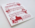 ブラボー 20ポケット縦入れファイル レッド ☆※お取り寄せ商品 【音楽雑貨 音符・ピアノモチーフ】ト音記号 ピアノ雑貨