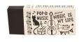 MUSIC LIFE 消しゴム ☆※お取り寄せ商品 【音楽雑貨 音符・ピアノモチーフ】ト音記号 ピアノ雑貨