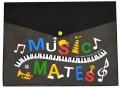 MUSIC MATES フラットケース ☆※お取り寄せ商品 【音楽雑貨 音符・ピアノモチーフ】ト音記号 ピアノ雑貨