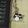 ドラム2タム 携帯ストラップ♪♪【打楽器・携帯ストラップ-音楽雑貨】