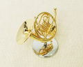 ミニチュア楽器!フレンチホルン 1/6 スケール(ゴールド)♪お取り寄せ商品です♪♪【楽器-音楽雑貨】