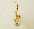 ミニチュア楽器!アルトサックス 1/12 スケール(ゴールド)♪この商品はお取り寄せ商品です♪♪【楽器-音楽雑貨】