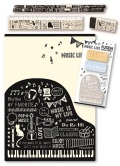 MUSIC LIFE セット ☆※お取り寄せ商品 【音楽雑貨 音符・ピアノモチーフ】ト音記号 ピアノ雑貨