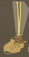 キャットブックマーク ゴールドバイオリン ※お取り寄せ商品 【音楽雑貨 音符・ピアノモチーフ】