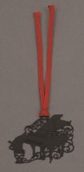 キャットブックマーク ブラックピアノ ※お取り寄せ商品 【音楽雑貨 音符・ピアノモチーフ】