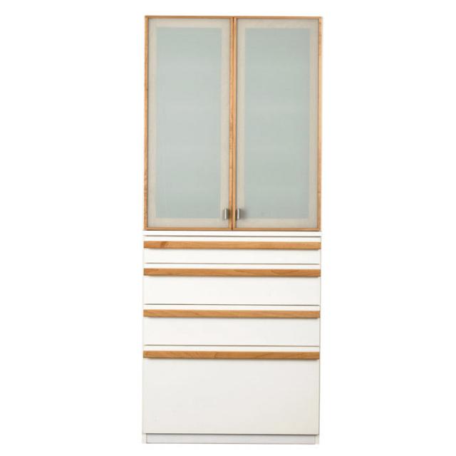 食器棚 完成品 80 日本製 開き戸 開梱設置込 カルモ カップボード 横幅80cm クラッセ