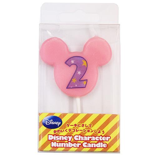 ディズニー ナンバーキャンドル No.2