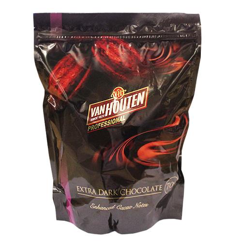 バンホーテン プロフェッショナル エキストラダークチョコレート 1kg 70%