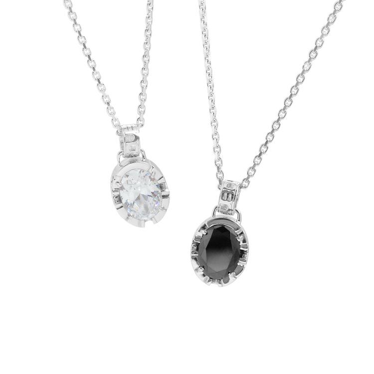 【DUB collection|ダブコレクション】Side Emblem Stone Pair Necklace サイド エンブレム ストーン ペア ネックレス DUBj-180-pair【ペア】