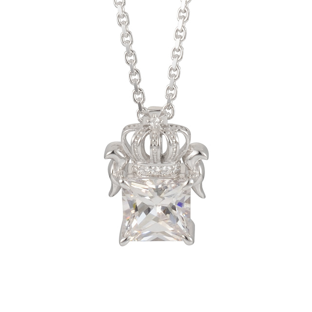 【DUB Collection】Regal crown Necklace リーガルクラウンネックレス DUBj-285-1(WH)【ユニセッス】