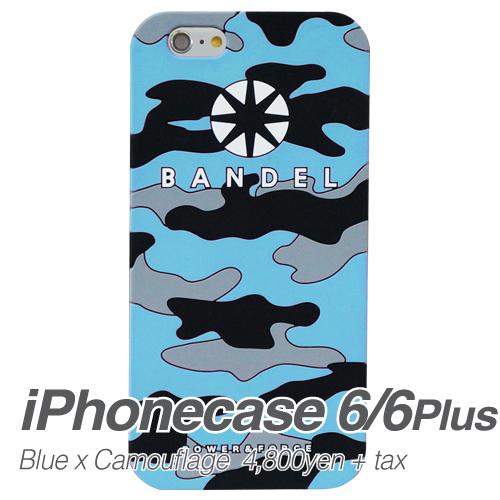 【BANDEL|バンデル】BANDEL スマートフォンケース iPhonecase 6/6Plus対応(ブルーカモフラージュロゴ)