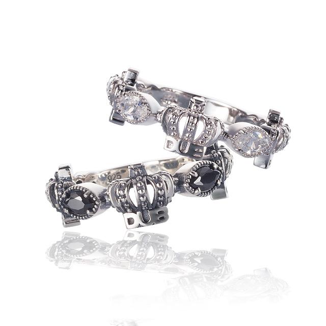 Men's JOKER掲載!!【DUB collection ダブコレクション】Classical Crown Pair Ring クラシカルクラウンペアリング DUBj-267-Pair【ペア】