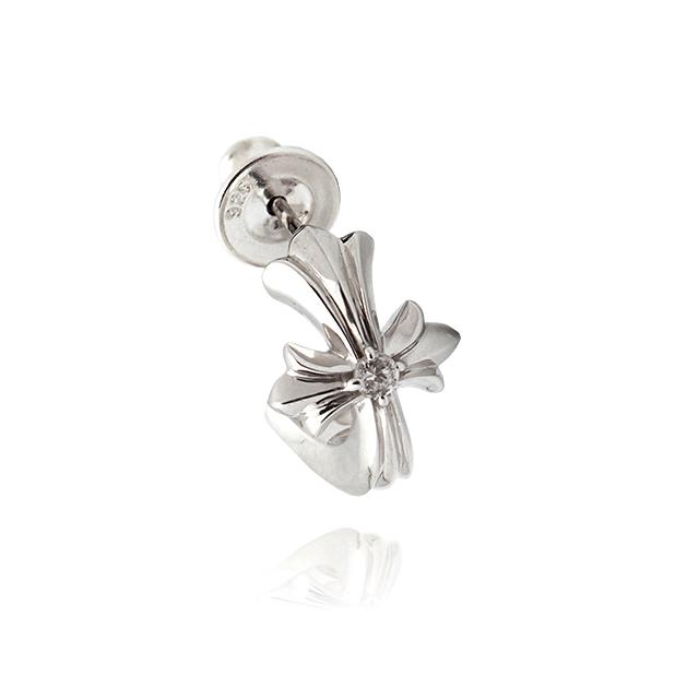 【DUB Collection】Cross Hoop Pierced クロス フープ ピアス 272-1【ユニセックス】