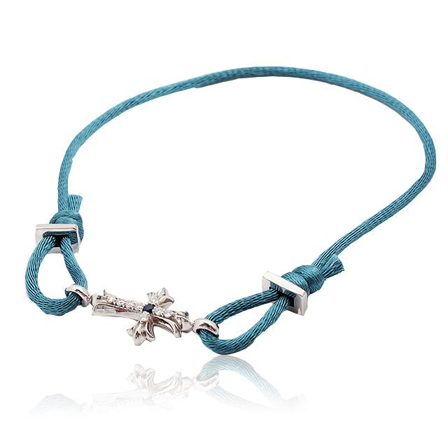 【DUB Collection】Cross Cord Bracelet クロスコード ブレスレット|DUBj-273-3(BL)【ユニセックス】