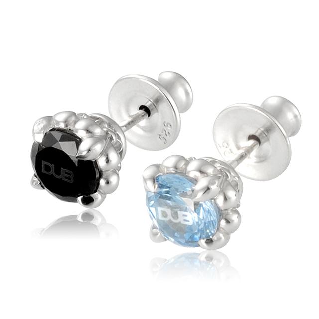 【DUB Collection】Lily range Pierced【DUBj-279-1-2(BK&LBL)】【ペア】