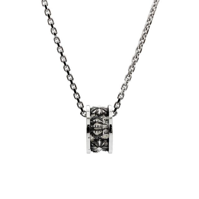【DUB Collection│ダブコレクション】Crown&CrossRing Necklace クラウンアンドクロスリングネックレス DUBj-371-1【ユニセックス】