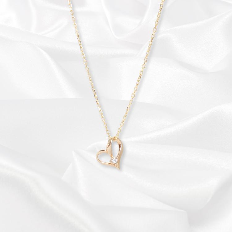 【一次生産分完売!二次予約受付中!】【kikira】Heart Necklace ハートネックレス GD