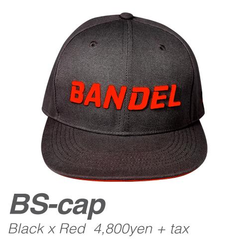 【BANDEL|バンデル】 BANDEL SPORTS CAP バンデルスポーツキャップ Black×Red