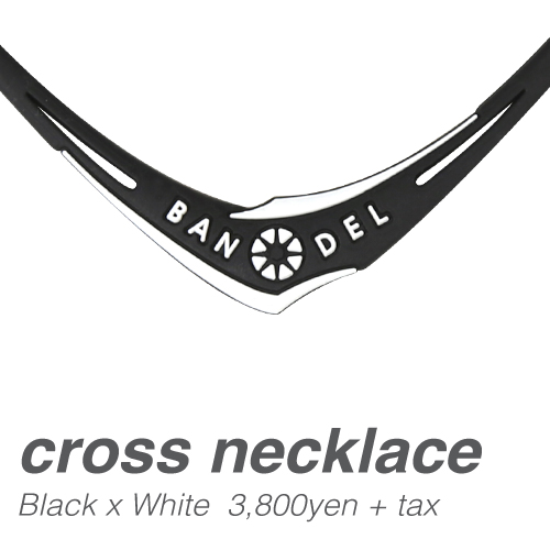 【BANDEL|バンデル】 CROSS NECKLACE クロスネックレス Black×White