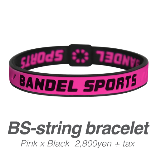 【BANDEL|バンデル】 BANDEL SPORTS STRING BRACELET バンデルスポーツストリングブレスレット Pink×Black