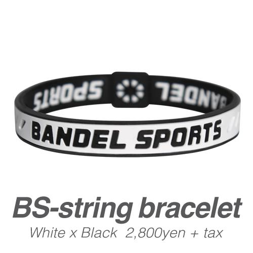 【BANDEL|バンデル】 BANDEL SPORTS STRING BRACELET バンデルスポーツストリングブレスレット White×Black