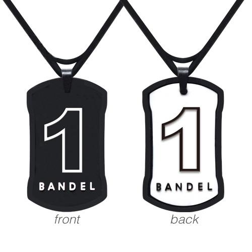 【BANDEL|バンデル】 ナンバーネックレス Black×White reversible(リバーシブル)