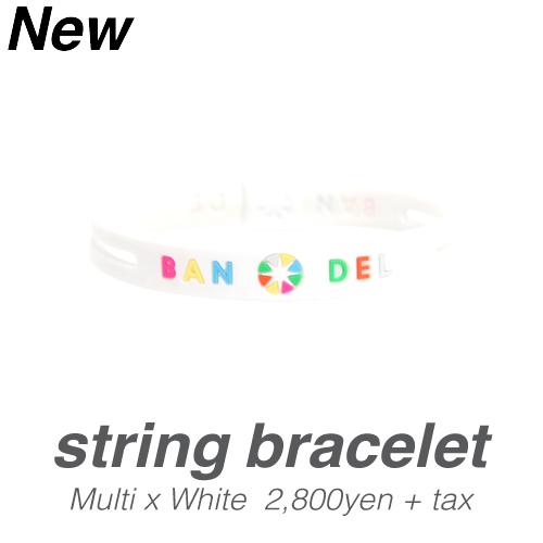 【BANDEL|バンデル】 BANDEL bracelet (バンデルブレスレット)(ストリング)ホワイトマルチカラー