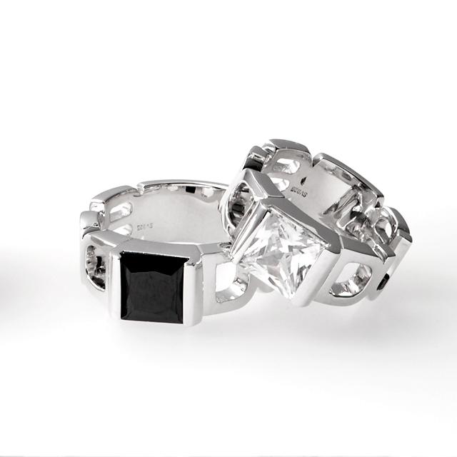 【DUB collection|ダブコレクション】Emblem Stone Ring エンブレムストーンリング DUBj-199-Pair【ペア】