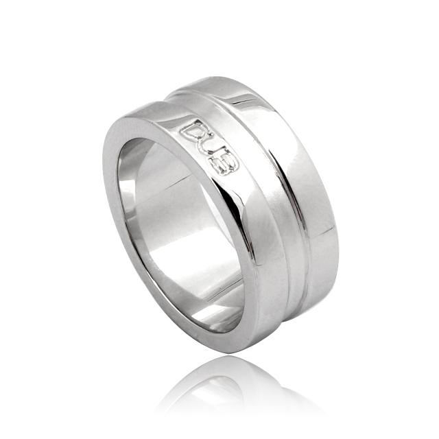 【DUB collection|ダブコレクション】Simple ring with mat line シンプルリングウィズマットライン DUBj-2【ユニセックス】