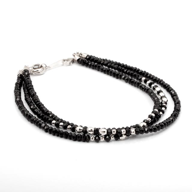 【DUB Luxury|ダブラグジュアリー】Shine Black 3WG Bracelet シャインブラック3連ホワイトゴールドブレスレット OD-2702【ユニセックス】