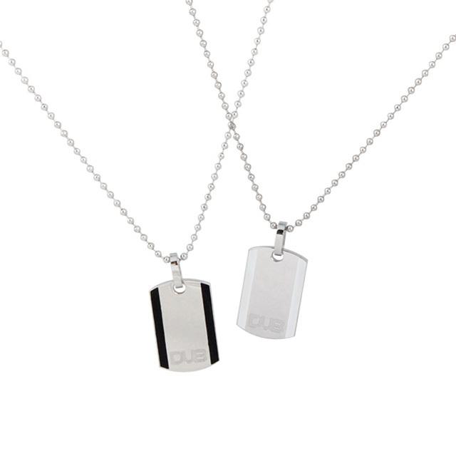 【DUB Collection│ダブコレクション】  DUBJSS-11-Pair stainless necklace ステンレスネックレス ドッグタグ型 プレート