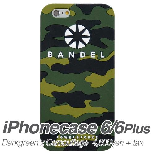 【BANDEL|バンデル】BANDEL スマートフォンケース iPhonecase 6/6Plus対応(ダークグリーンカモフラージュロゴ)