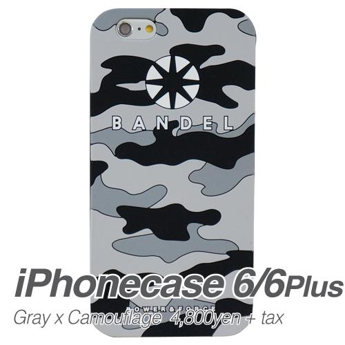 【BANDEL バンデル】BANDEL スマートフォンケース iPhonecase 6/6Plus対応(グレーカモフラージュロゴ)