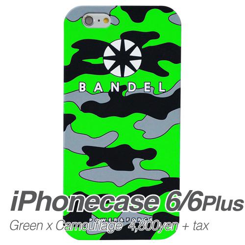 【BANDEL|バンデル】BANDEL スマートフォンケース iPhonecase 6/6Plus対応(グリーンカモフラージュロゴ)