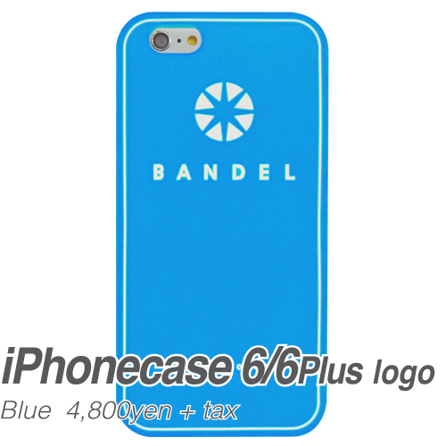 【BANDEL|バンデル】BANDEL スマートフォンケース iPhonecase 6/6Plus対応(ブルーロゴ)