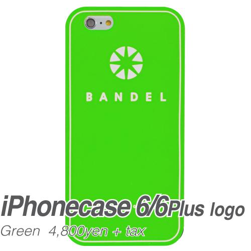 【BANDEL|バンデル】BANDEL スマートフォンケース iPhonecase 6/6Plus対応(グリーンロゴ)