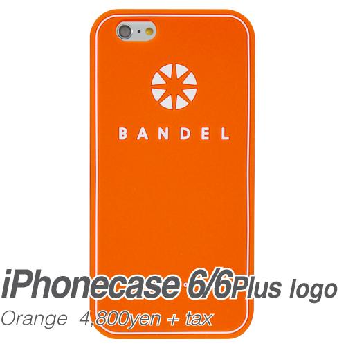 【BANDEL|バンデル】BANDEL スマートフォンケース iPhonecase 6/6Plus対応(オレンジロゴ)