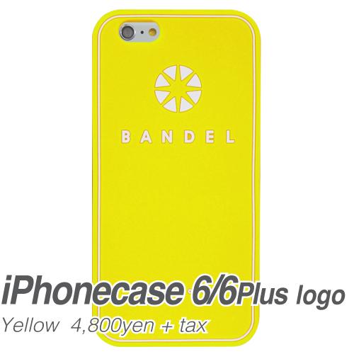 【BANDEL|バンデル】BANDEL スマートフォンケース iPhonecase 6/6Plus対応(イエローロゴ)