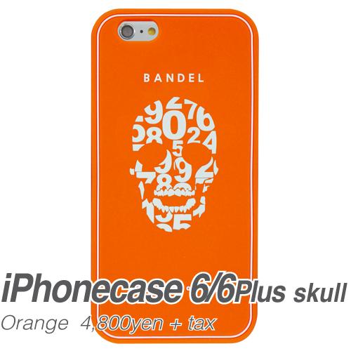 【BANDEL|バンデル】BANDEL スマートフォンケース iPhonecase 6/6Plus対応(オレンジスカル)
