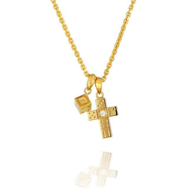 【三次予約受付中】【DUB Collection│ダブコレクション】 Da-iCE model Cross+Dice Necklace Top クロス+ダイスネックレストップ DUB-C029-1/030-1【Da-iCEコラボ】【ユニセックス】