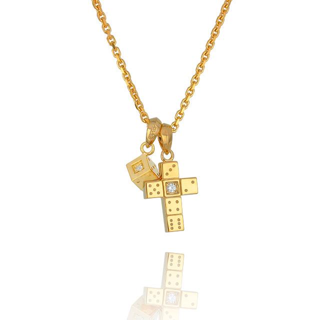【三次予約受付中】【DUB Collection│ダブコレクション】 Da-iCE model Cross+Dice Necklace Top クロス+ダイスネックレストップ DUB-C029-1/030-2【Da-iCEコラボ】【ユニセックス】
