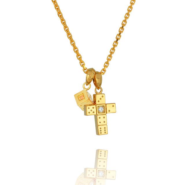 【三次予約受付中】【DUB Collection│ダブコレクション】 Da-iCE model Cross+Dice Necklace Top クロス+ダイスネックレストップ DUB-C029-1/030-3【Da-iCEコラボ】【ユニセックス】