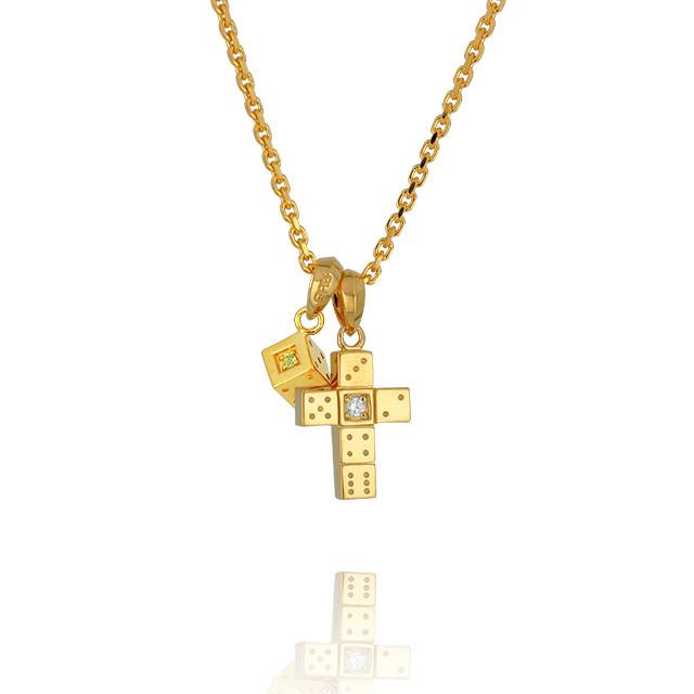 【三次予約受付中】【DUB Collection│ダブコレクション】 Da-iCE model Cross+Dice Necklace Top クロス+ダイスネックレストップ DUB-C029-1/030-4【Da-iCEコラボ】【ユニセックス】