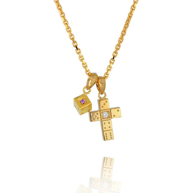 【三次予約受付中】【DUB Collection│ダブコレクション】 Da-iCE model Cross+Dice Necklace Top クロス+ダイスネックレストップ DUB-C029-1/030-5【Da-iCEコラボ】【ユニセックス】
