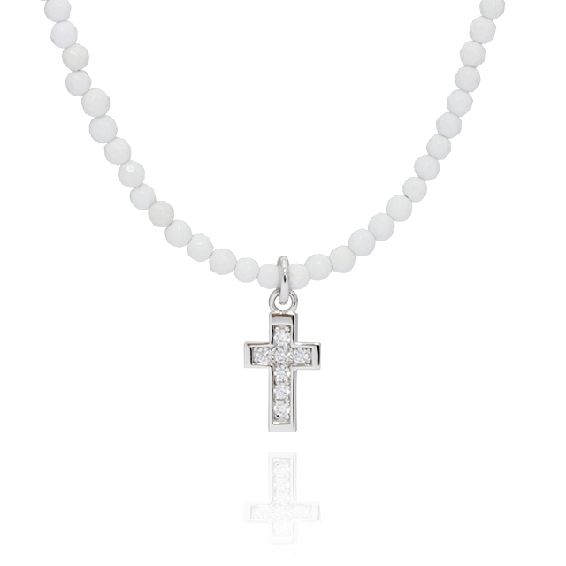 【DUB Collection】Cross Beads Necklace クロスビーズネックレス DUB-C009-1【ユニセックス】