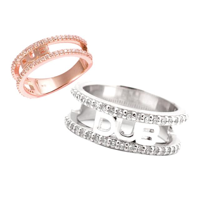 【DUB Collection|ダブコレクション】Shine open work Pair Ring シャインオープンワークペアリング DUBj-241-2-DUBjp-2 【ペア】