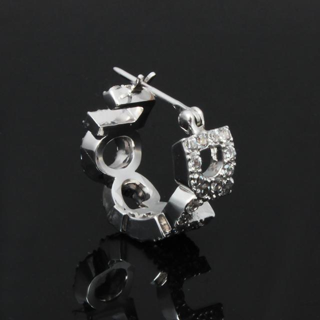【DUB collection】Emblem ring Pierced エンブレム リング ピアス DUBj-253-1(WH)【ユニセックス】